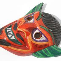 Máscara de diablo de madera