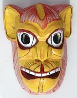 Masque en bois de singe