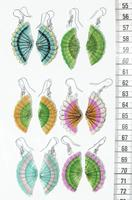 Colored horsehair earrings