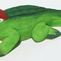 Crocodile, balsa wood