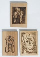 Wooden pirography art