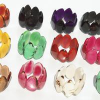 Pulseras de abalorios de tagua