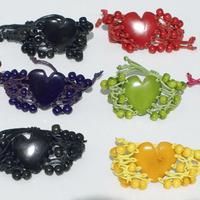 Tagua bracelets avec des coeurs